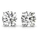 3 CT. TW. 14K White Gold Moissanite Studs