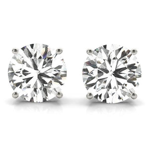 4 CT. TW. 14K White Gold Moissanite Studs