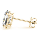 Oval 14K Yellow Gold Four-Prong Stud Earrings