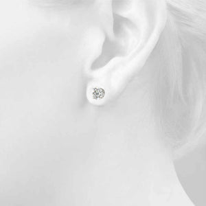 2 CT. TW. 14K White Gold Lab-Grown Diamond Studs
