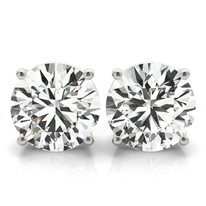1 CT. TW. 14K White Gold Lab-Grown Diamond Studs