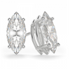 Marquise 14K White Gold Moissanite Four Prong Studs