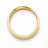 Women's 14K Yellow Gold Bevel Edge Comfort Fit (From 4mm to 6mm)