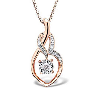 Diamond Spotlight Necklace in 10k Rose Gold