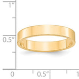 Women's 14K Yellow Gold Flat Band (From 2mm to 4mm)