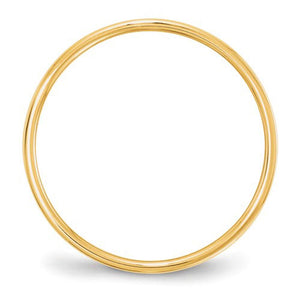 Men's 14K Yellow Gold Flat Band (From 3mm to 8mm)