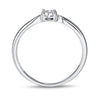 Glistening Diamond Promise Ring 1/10 Carat In 10K White Gold
