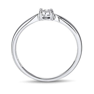 Glistening 1/10 Carat Diamond Promise Ring In 10K White Gold