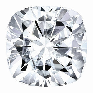 Cushion Super-Premium Colorless (DEF) Moissanite