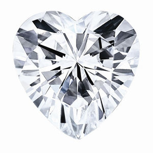 Heart Super-Premium Colorless (DEF) Moissanite