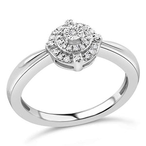Sanctuary Diamond Promise Ring In Sterling Silver