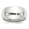 Men's 14K White Gold Comfort Fit Band (From 3mm to 8mm)