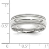 Men's 14K White Gold Double Milgrain Comfort Fit Band (From 5mm to 8mm)