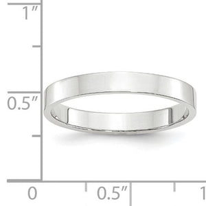 Women's 14K White Gold Flat Band (From 2mm to 4mm)