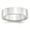 Men's 14K White Gold Flat Band (From 3mm to 8mm)