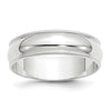 Men's 14K White Gold Milgrain Half Round Band (From 4mm to 6mm)