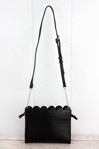 Scalloped Crossbody Clutch