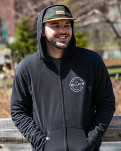 Lightweight Circle Logo Zip-Up Hoodie