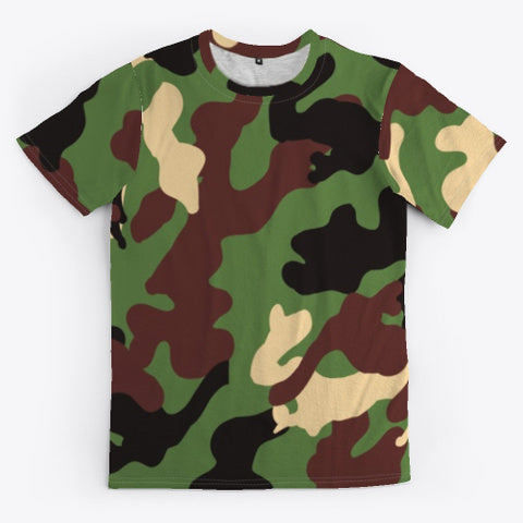 Camo # 6 Design Pattern all-over printed t-shirt