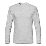 Customizable Men's Long Sleeve T-Shirt by Next Level add your own photos, images, designs, quotes, texts and more