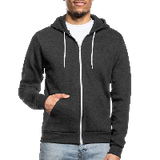 Customizable Unisex Fleece Zip Hoodie add your own photos, images, designs, quotes, texts and more