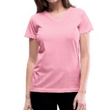 Customizable Women's V-Neck T-Shirt add your own photos, images, designs, quotes, texts and more
