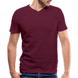 Customizable Men's V-Neck T-Shirt add your own photos, images, designs, quotes, texts and more