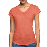 Customizable Women's Tri-Blend V-Neck T-Shirt add your own photos, images, designs, quotes, texts and more