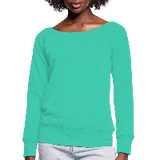 Customizable Women's Wideneck Sweatshirt add your own photos, images, designs, quotes, texts and more