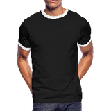 Customizable Men's Ringer T-Shirt add your own photos, images, designs, quotes, texts and more