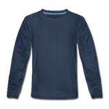 Customizable Kids' Premium Long Sleeve T-Shirt add your own photos, images, designs, quotes, texts and more