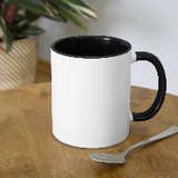 Customizable Contrast Coffee Mug add your own photos, images, designs, quotes, texts and more