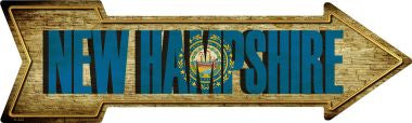 New Hampshire Novelty Metal Arrow Sign
