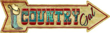 Country Gal Novelty Metal Arrow Sign
