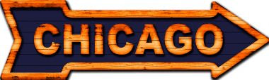 Chicago Novelty Metal Arrow Sign