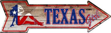 Texas Girl Novelty Metal Arrow Sign A-345