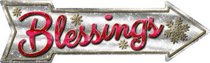 Blessings Novelty Metal Arrow Sign