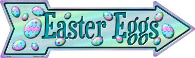 Easter Eggs Novelty Metal Arrow Sign