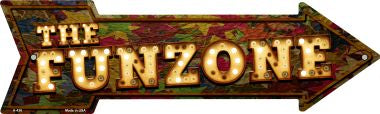The Funzone Bulb Letters Novelty Metal Arrow Sign