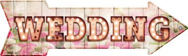 Wedding Bulb Letters Novelty Arrow Sign