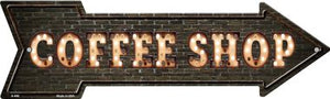 Coffee Shop Bulb Letters Novelty Arrow Sign
