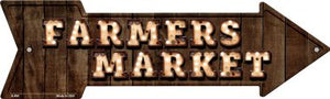 Farmers Market Bulb Letters Novelty Arrow Sign