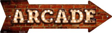 Arcade Bulb Letters Novelty Arrow Sign