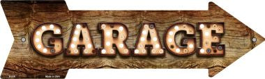 Garage Bulb Letters Novelty Arrow Sign