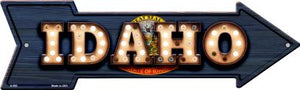 Idaho Bulb Lettering With State Flag Novelty Arrows