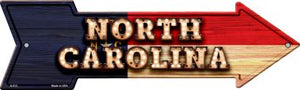 North Carolina Bulb Lettering With State Flag Novelty Arrows A-613