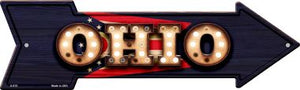 Ohio Bulb Lettering With State Flag Novelty Arrows A-615
