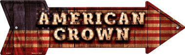 American Grown Bulb Letters American Flag Novelty Arrow Sign