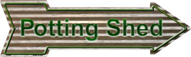 Potting Shed Metal Novelty Arrow Sign A-644