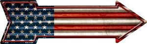 American Flag Novelty Arrow Sign